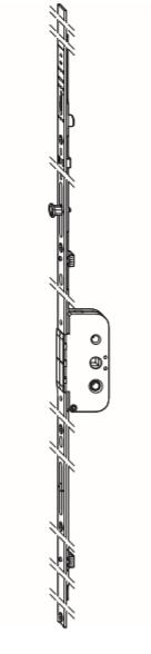 Winkhaus activPilot : Zasuwnica GAK D 25 – 50  stała wysokość klamki