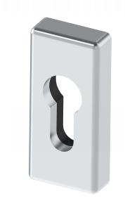 Szyld wkładki zamka, nasuwany (bezpieczny)